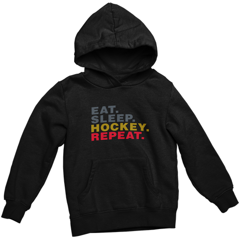 Eat Sleep Hockey Repeat - Adult Hoodie