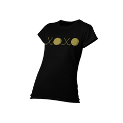 Gold XOXO Hockey Short Sleeve Shirt