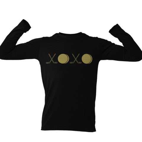 Gold or Red XOXO Hockey Long Sleeve Unisex Shirt