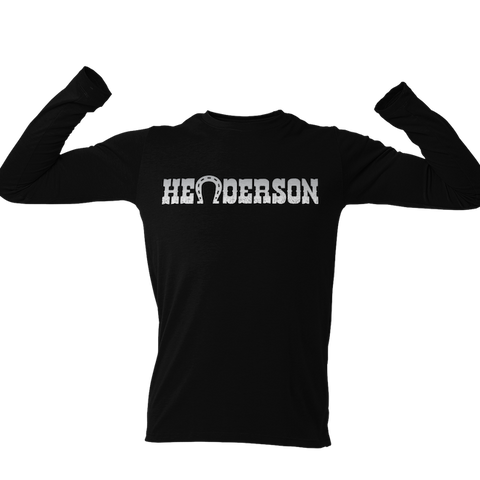 Silver Henderson Hockey Horseshoe Long Sleeve Unisex Shirt