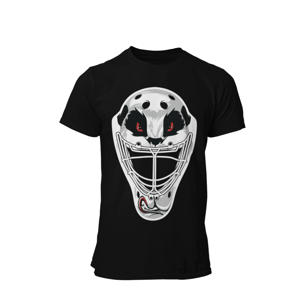 Black Unisex Panda Hockey Mask Shirt
