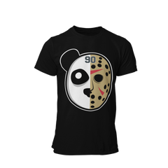 Black Unisex Panda Jason Hockey Mask Shirt
