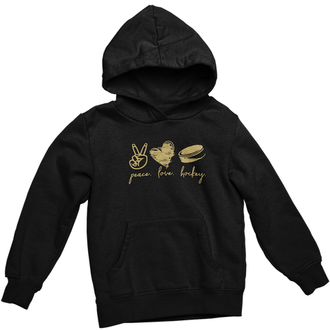 Peace Love Hockey - Adult Hoodie
