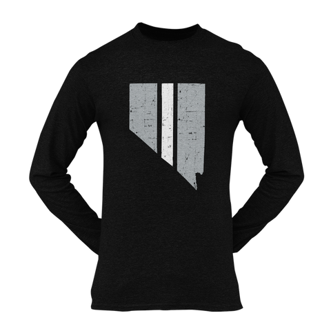 Nevada The Silver & Black State Long Sleeve Unisex Shirt
