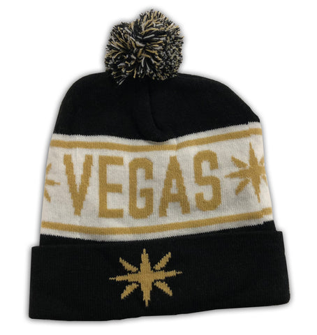 Vegas Star Knit Pom Hat