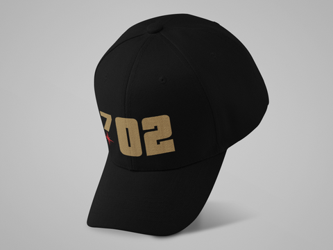 702 Gold Hockey Hat (large graphic)