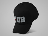 702 Silver Football Hat (large graphic)