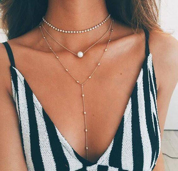 Pearl Choker Necklace-Embrace Collection