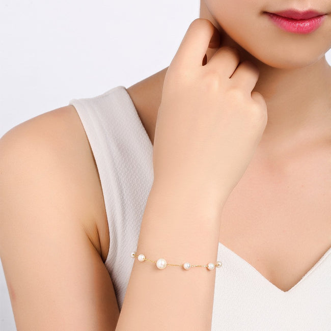 Freshwater Pearl Bracelet in 18K Gold - Ables Mall