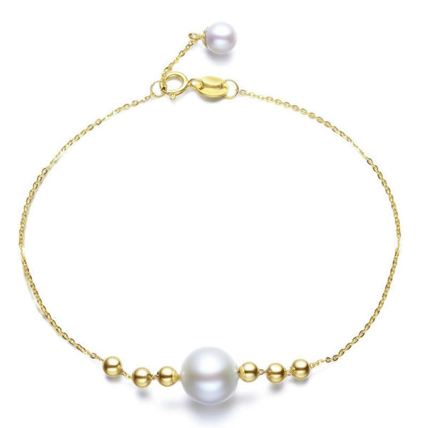 Freshwater Pearl Two-Tone Bracelet in 18K Gold - Ables Mall