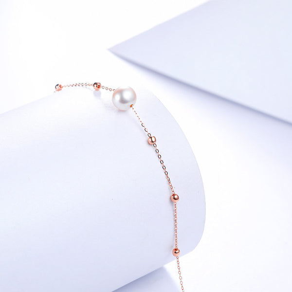 Freshwater Pearl Chain Bracelet in 18K Gold - Ables Mall