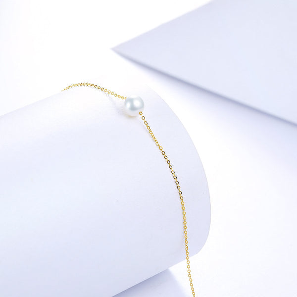 Freshwater Pearl 6.5-7mm Chain Bracelet in 18K Gold - Ables Mall