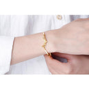 Letter Angel And Wings Bracelet in 24K Gold - Ables Mall