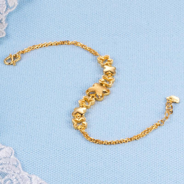 Patterned Clovers Celtic Bracelet in 24K Gold - Ables Mall