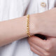 Patterned Beads and Hoops Snake Chain Bracelet in 24K Gold 17cm