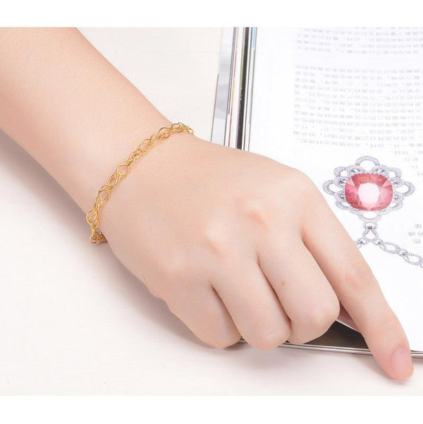 18cm Double Cable Chain Bracelet in 24K Gold - Ables Mall