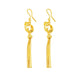 Cutout Star With Snake Chain Tassel Drop Earrings in 24K Gold