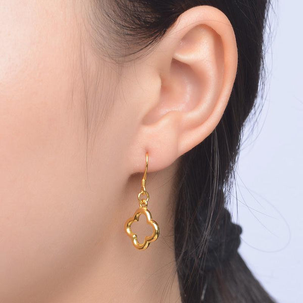 Wired Flower Drop Earrings in 24K Gold - Ables Mall