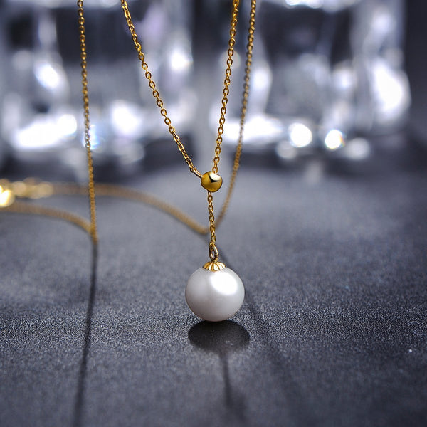 Freshwater Pearl Y  Necklace in 18K Gold - Ables Mall