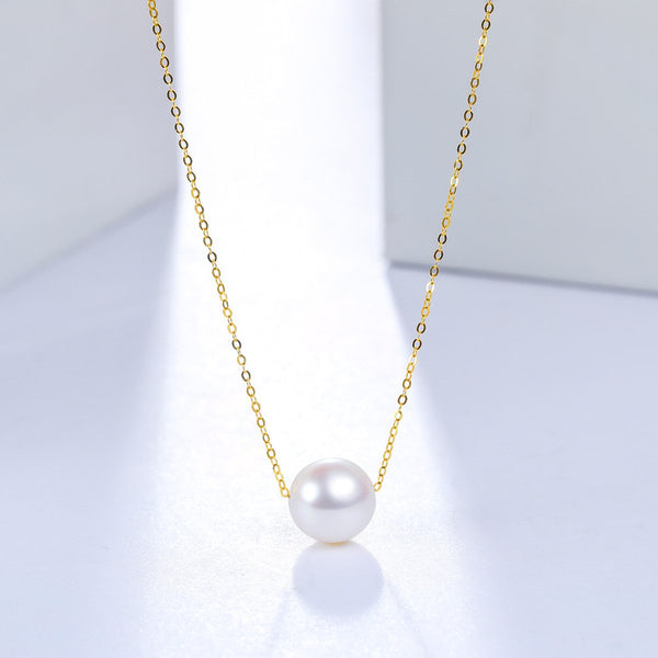 8.5mm Freshwater Pearl Pendant Necklace in 18K Gold - Ables Mall