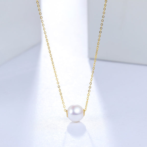 9mm Freshwater Pearl Pendant Necklace in 18K Gold - Ables Mall