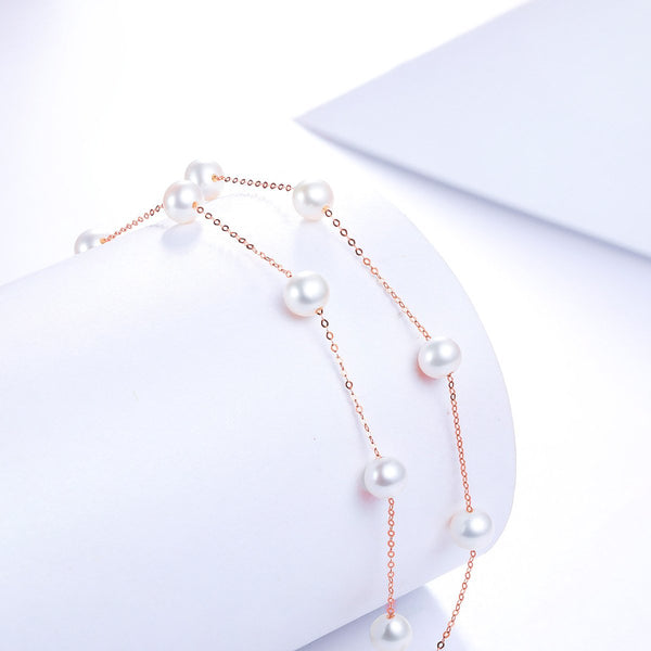 Freshwater Pearl Beaded Necklace in 18K Gold - Ables Mall