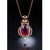 36.221 CT Rubellite Tourmaline Diamond Accent Necklace Charm in 18K Gold (No Chain) - Ables Mall
