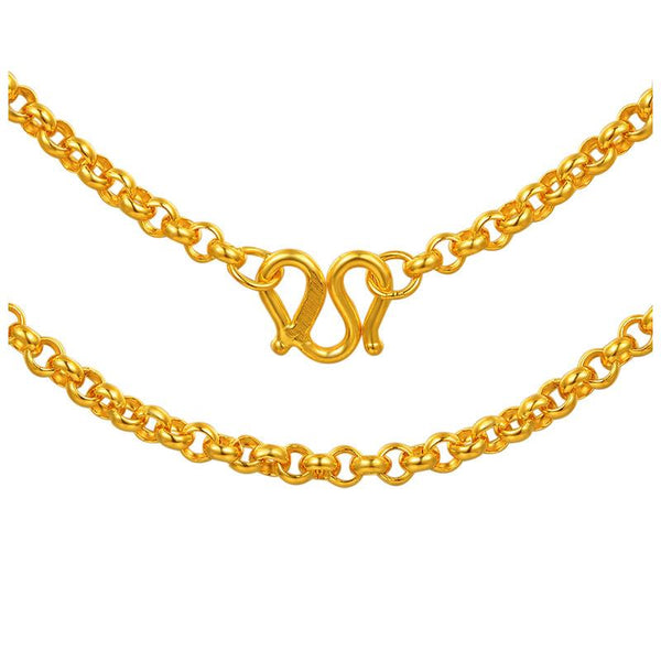 Rolo Chain Necklace in 24k Gold 45cm - Ables Mall