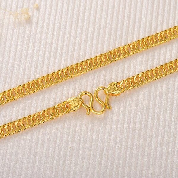 Curb Chain Necklace in 24k Gold 20.47 inch - Ables Mall