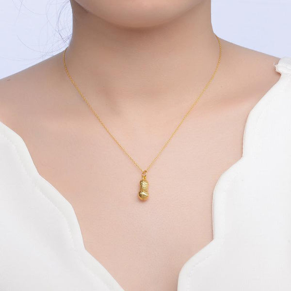 Peanut Necklace Charm in 24k Yellow Gold (no chain) - Ables Mall