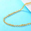 Patterned Teardrop Links Thick Chain Necklace in 24k Yellow Gold 17 inch - Ables Mall