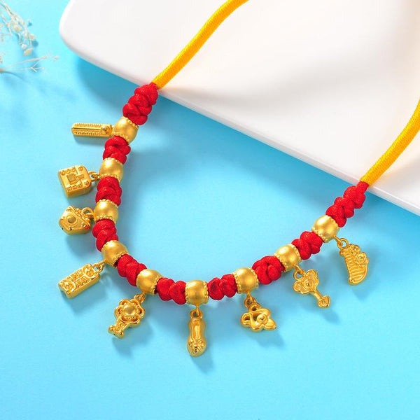 Traditional Chinese 9 Treasures Wedding Bridal Necklace 45cm - Ables Mall