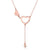 Love Hearts Diamond Accent Necklace in 18K Rose Gold 45cm - Ables Mall