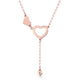 Love Hearts Diamond Accent Necklace in 18K Rose Gold 45cm