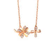 Diamond Accent Solid Clover Celtic Necklace in 18K Rose Gold 45cm