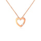Diamond Accent Love Heart Pendant Necklace in 18K Rose Gold 45cm