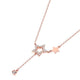 Diamond Accent Star Pendant Necklace in 18K Rose Gold 45cm
