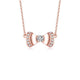 Diamond Accent Bow Knot Pendant Necklace in 18K Rose Gold 45cm