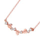 3 Love Hearts Diamond Accent Necklace in 18K Rose Gold 45cm
