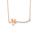 Lovely Butterfly Bow on Branch Diamond Accent Necklace in 18K Rose Gold 45cm