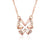 Diamond Accent Butterfly Necklace in 18K Rose Gold 45cm - Ables Mall