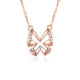 Diamond Accent Butterfly Necklace in 18K Rose Gold 45cm
