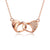 Diamond Accent Interlocking Love Heart Necklace in 18K Rose Gold 45cm - Ables Mall