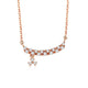 Diamond Accent Long Bar with Charm Necklace in 18K Rose Gold 45cm