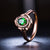 Oval Tourmaline Diamond Accent Rose Engagement Wedding Ring in 18K Gold - Ables Mall
