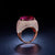 19.612CT Round Rubellite Ruby Diamond Accent Engagement Wedding Ring in 18K Gold - Ables Mall