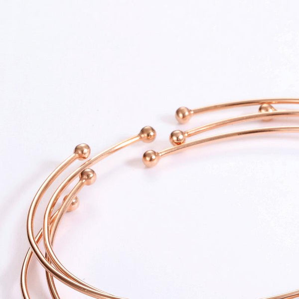 14K Solid Rose Gold Natural Garnet Solitaire Gemstone Open Bangle Bracelet Wholesale Factory Direct R2B2G11011