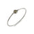 Cubic Zirconia Paved Star Bead Bangle in Sterling Silver Factory Wholesale R2B2S21008