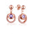 Authentic Amethyst Cubic Zirconia Accent Halo Detachable Drop Earrings in Sterling Silver Manufacturer Wholesale R2E4S21002