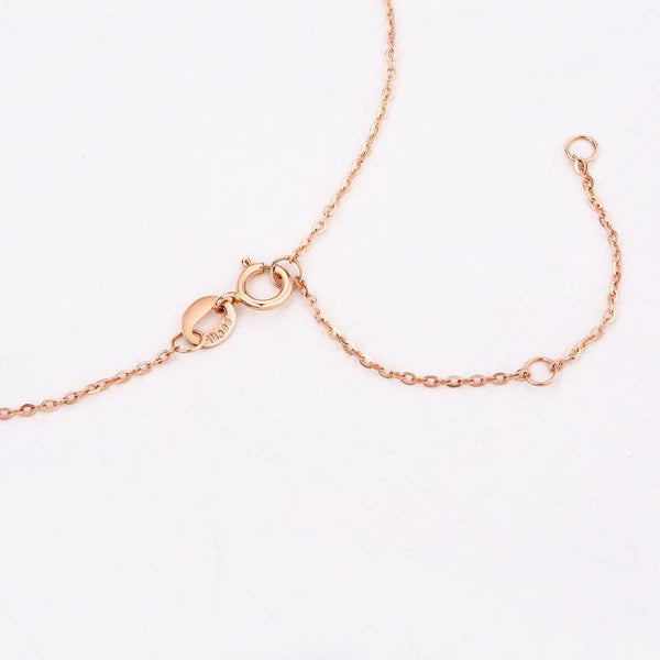 14K Solid Gold Cable Chain 0.9-1mm Width 45mm, Gold and Rose Gold - Ables Mall